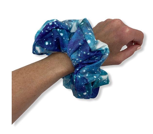 Blue Galaxy Jumbo Scrunchie