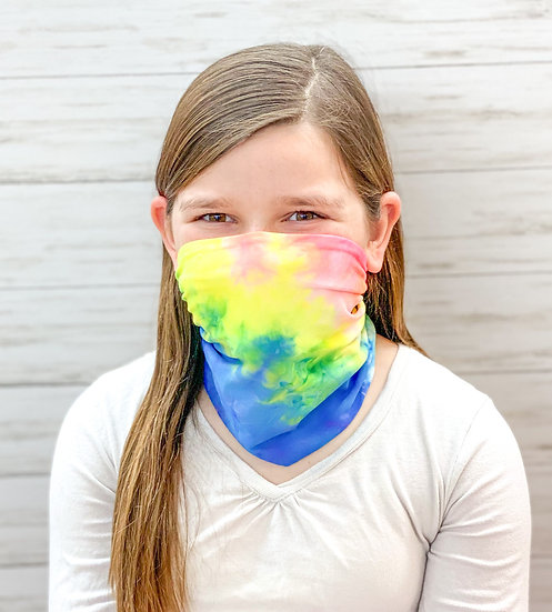 Neon Rainbow Tie Dye Youth GemBand All-in-one Accessory
