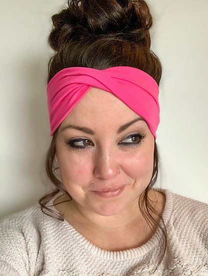 Solid Hot Pink Headband