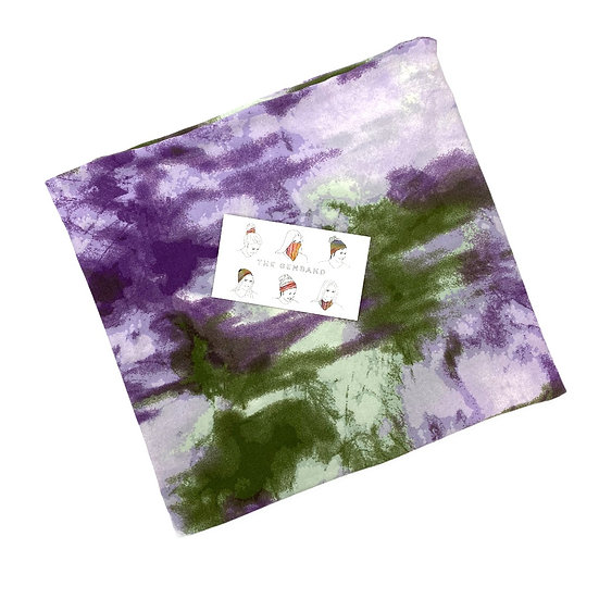 Green and Purple Tie Dye GemBand - All-in-on Accessory