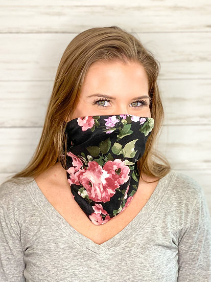 Black Floral GemBand - All-in-on Accessory