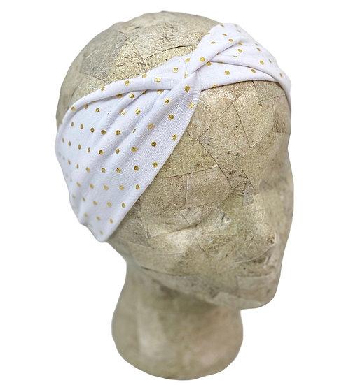 White Gold Foil Headband