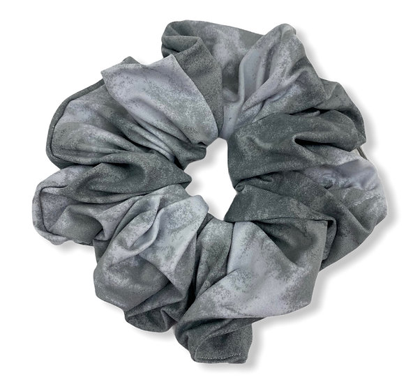 Grey Tie Dye Jumbo Scrunchie