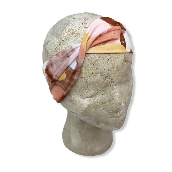 Peach and Gold Watercolor Headband