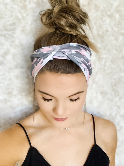 Pink and Grey Camo