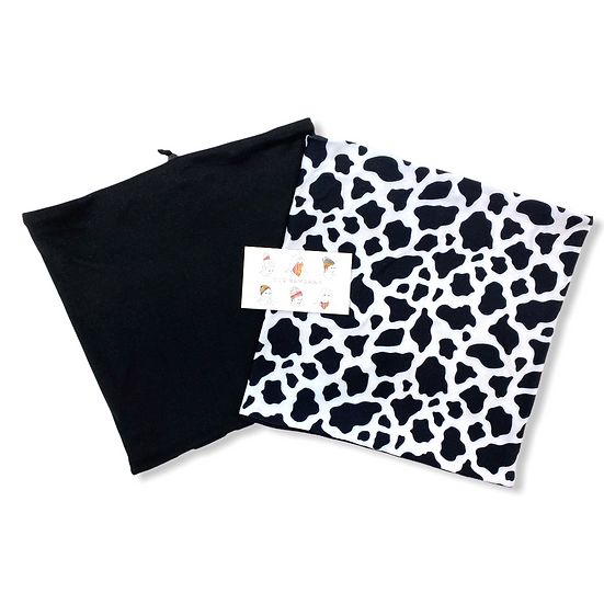 Reversible Cow Print and Black GemBand - All-in-on Accessory