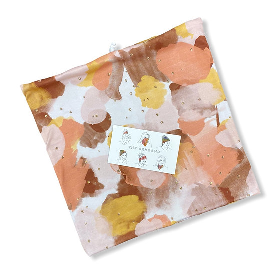 Looser Fit Peach and Gold Watercolor GemBand - All-in-on Accessory