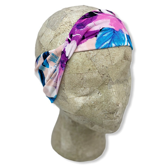 White, Blue, and Purple Floral Headband