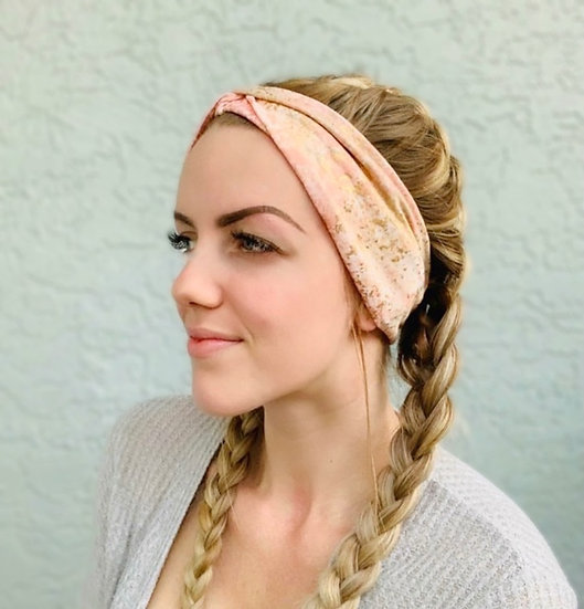 Pink and Gold Foil Headband