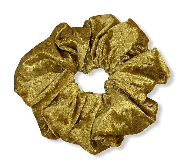 Mustard Gold Crushed Velvet Jumbo Scrunchie