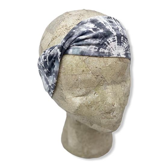 Dark Grey Tie Dye Headband
