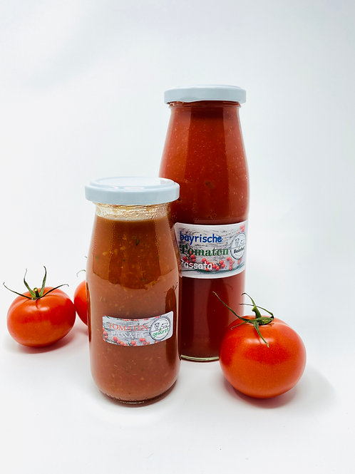 Tomaten Passata, gewürzt oder natur