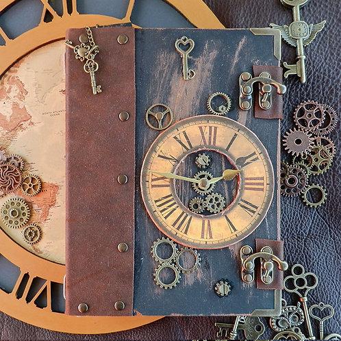 Steampunk Clock Double Hook