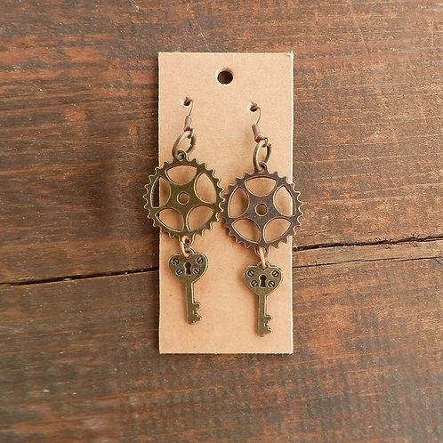 Gear Heart Lock Key