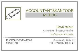 Accountantskantoor Meeus - visitekaartje