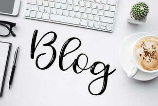Blogging,blog concepts ideas with white