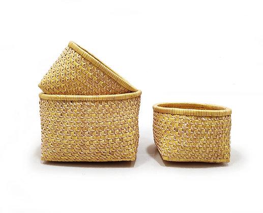 Open Basket (Round, Sohi embellished) - Set of 3