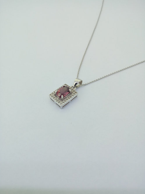 Silver Pendant with Garnet BS 0001