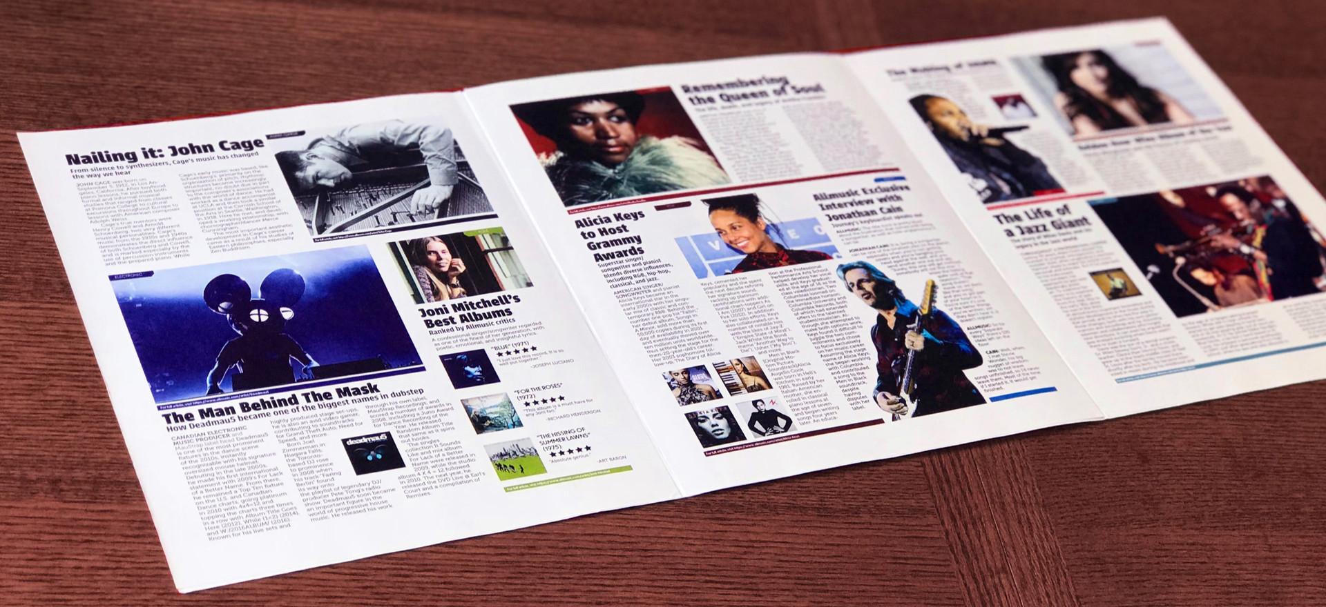All Music Brochure Back