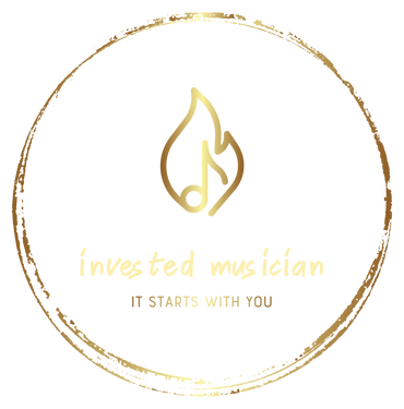 Invested Musician Logo Gold