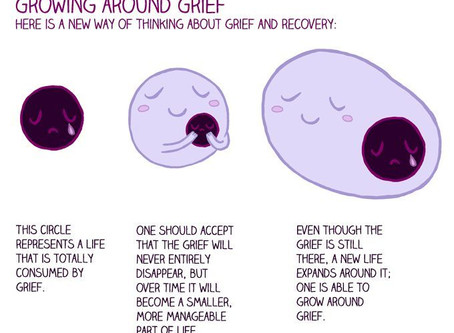 """Grief is not something we """"get over"""", however in time our life can grow around grief."""
