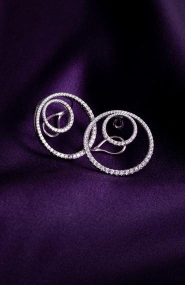 Diamond Fancy Hook 'No Pierce' Earrings