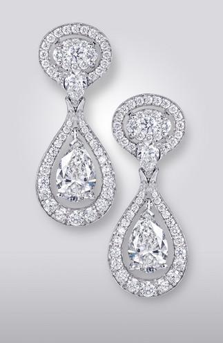 PEAR- SHAPE DIAMOND EARRINGS