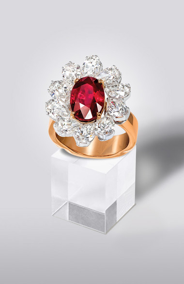5.01CT BURMESE RUBY RING