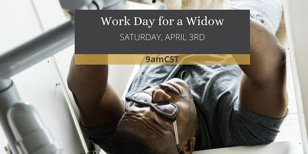 Sacred Share's Work Day for a Widow