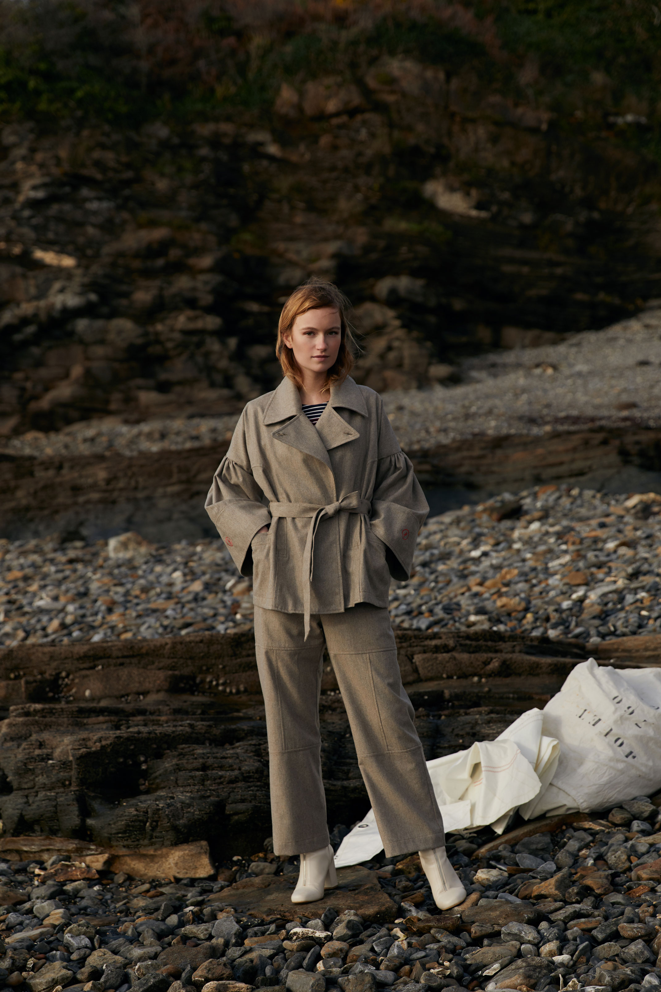 photographe mode pour collaboration nolwenn faligot et armor lux en Bretagne
