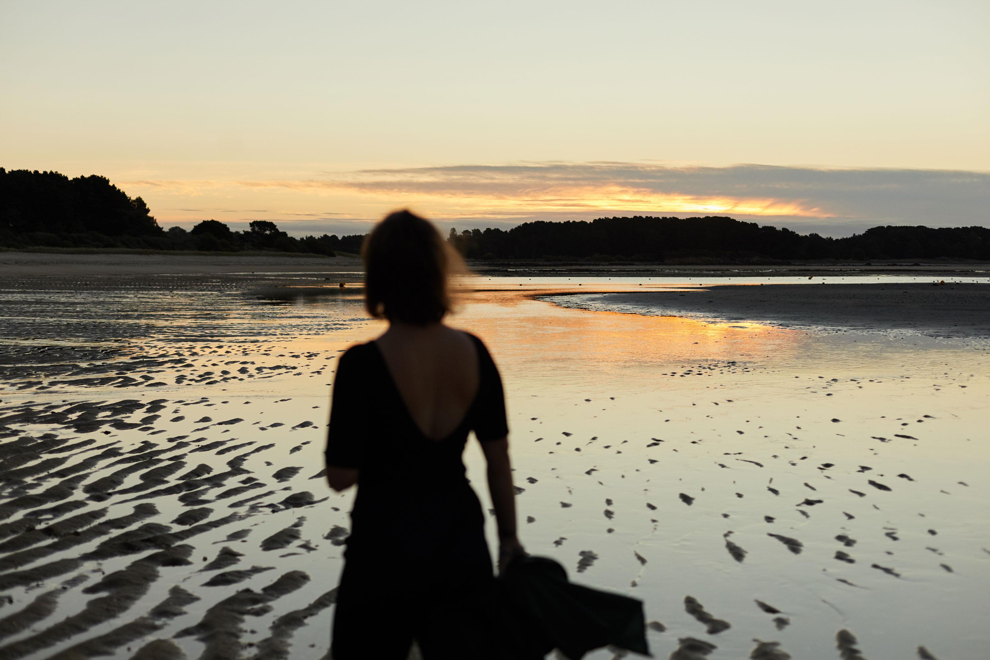 seance photo en exterieur à la plage en Bretagne