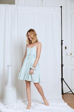 photographe eshop pour la creatrice Lou Ty, robe demi mesure