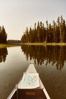 grand teton usa canoe montagne