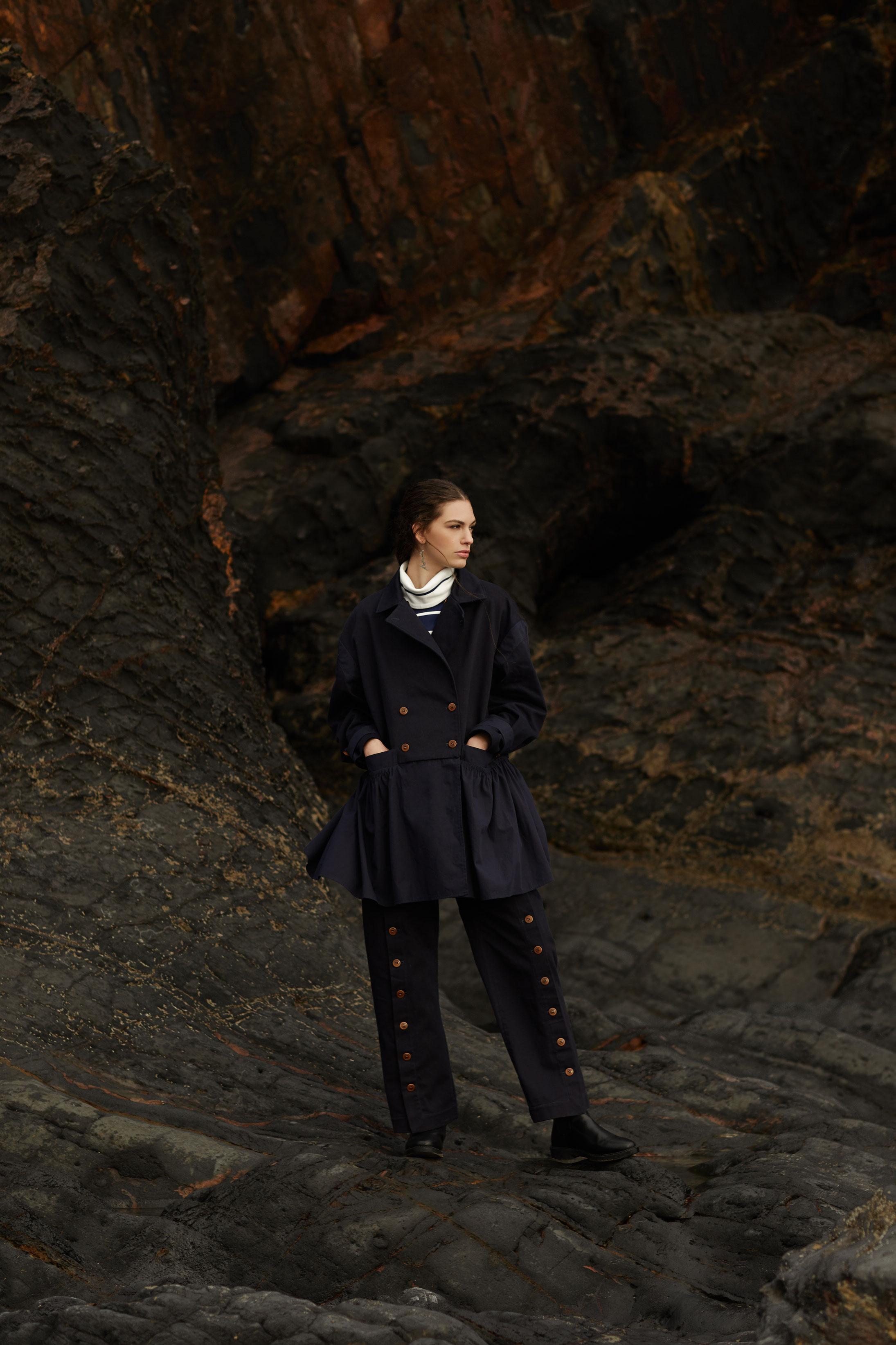 photographe mode pour campagne pub de la styliste Nolwenn Faligot en Bretagne