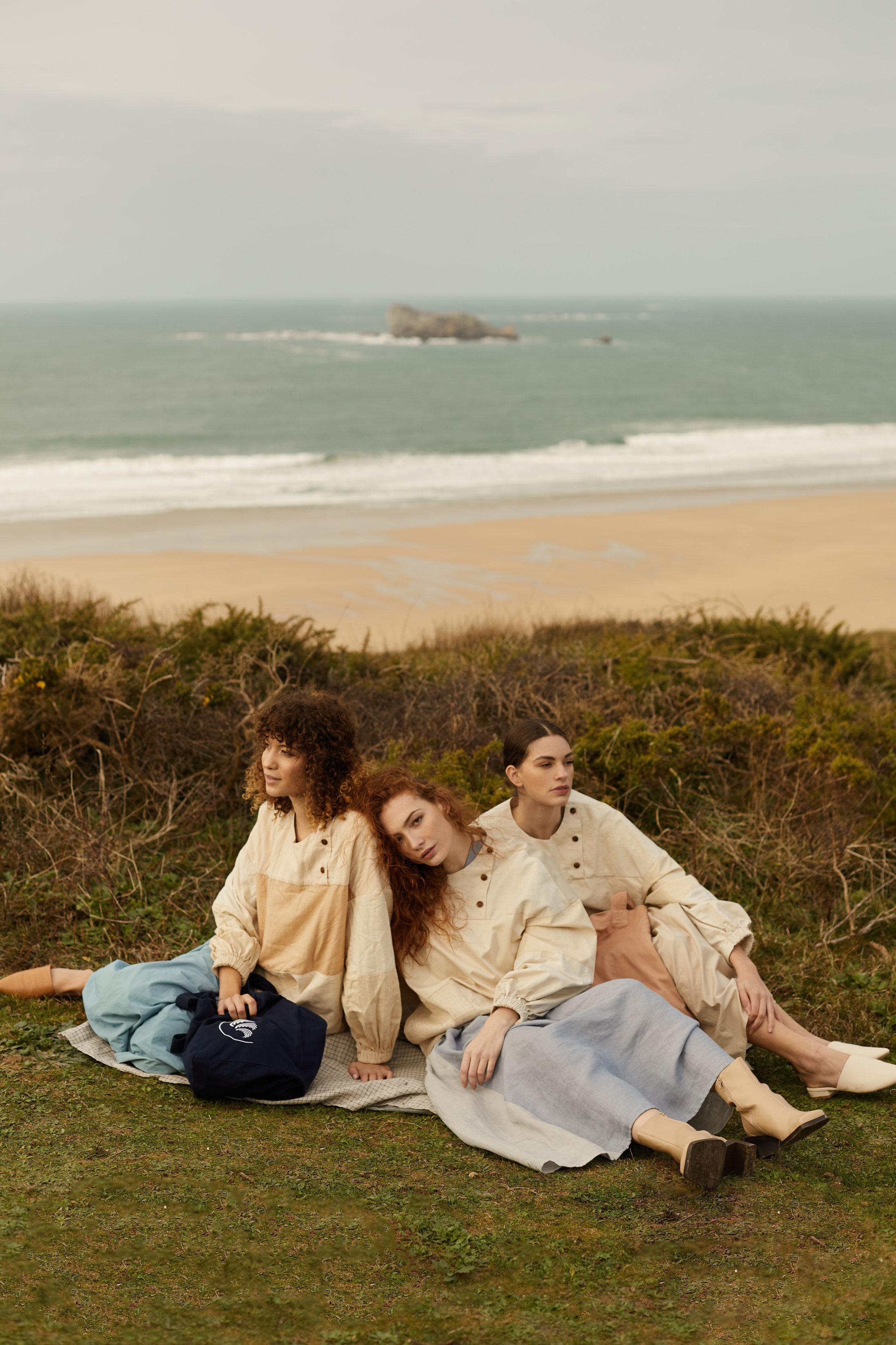 photographe de mode, shooting avec mannequin agence, styliste et maquilleuse en Bretagne