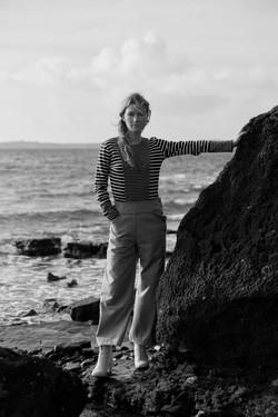 portrait mode à la mer avec mannequin pour nolwenn faligot en Bretagne