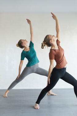 photographe en studio pour la marque Dance Fiber, sport et yoga