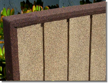 Earth Stone stone coated metal fencing and wall panels
