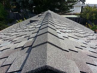 Speed Ridge stone coated metal roof trim