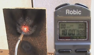 Torch test intense heat stone coating