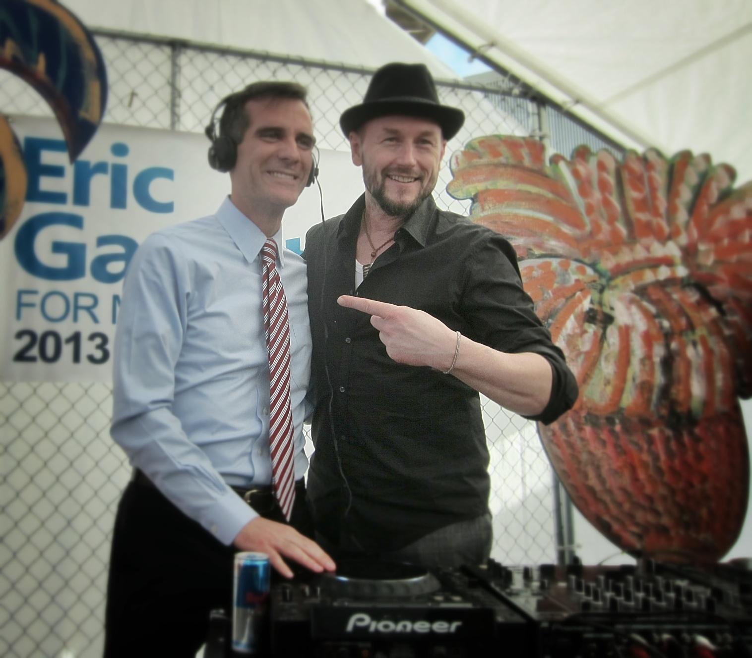 Eric Garcetti & DJ Bart Thimbles.jpg