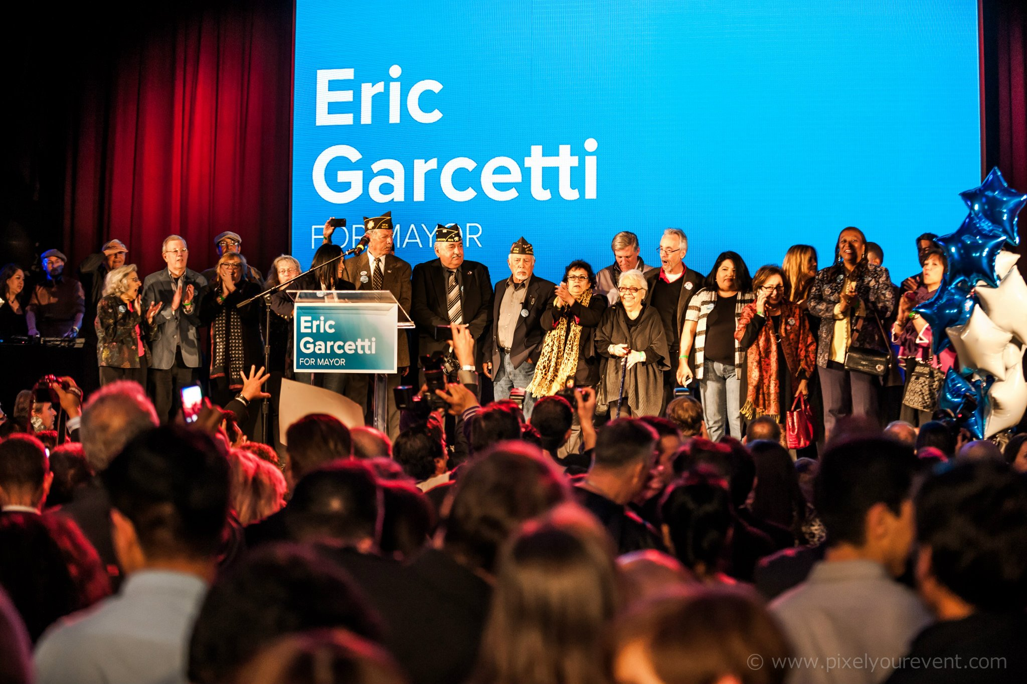 Eric Garcetti Election Night Avelon Hollywood