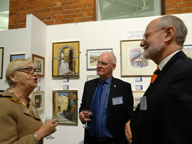 4d DSC09316 Mayor Toni Letts with president Archie Niven & chairman Anthony Waldbaum