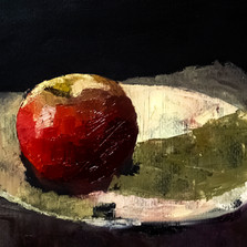 Still Life with Apple oil on paper 35x25