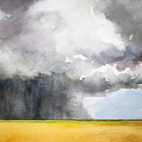 Cloudburst over the Mississippi Delta by