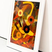 El Bosque Rojo series I oil on paper 50x