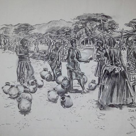 DSC04579 Dimeka Market- Pots and Pregnan
