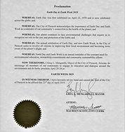 Earth Week Proclamation