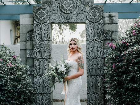 Bohemian Beauty at the Mayan Courtyard