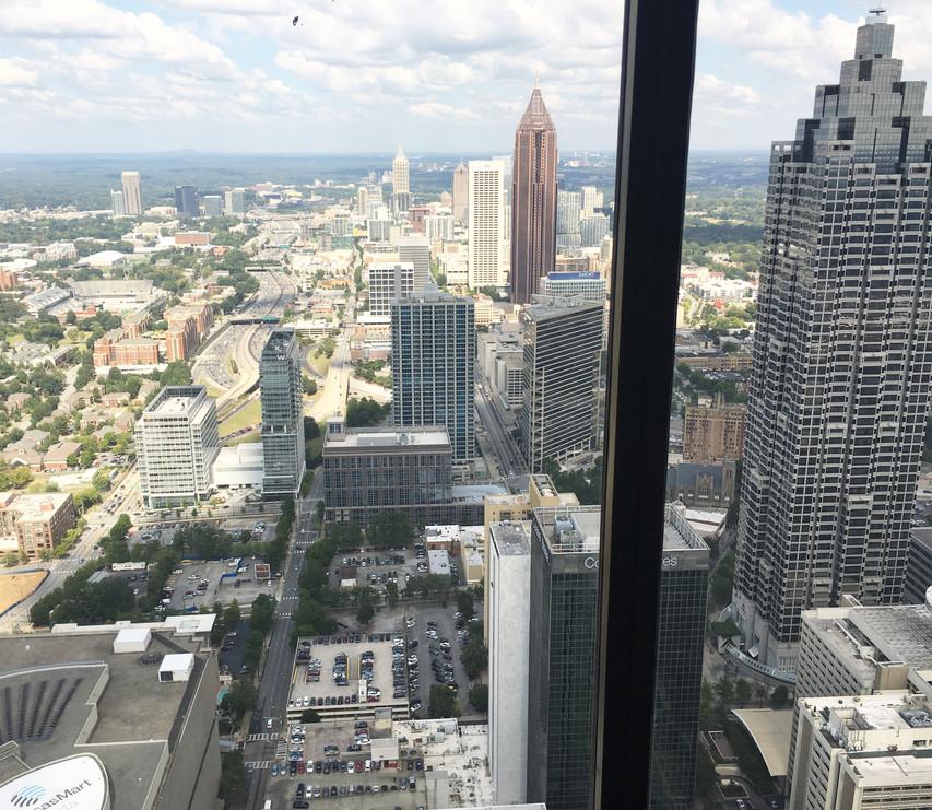 View of Atlanta 73 Stories Up